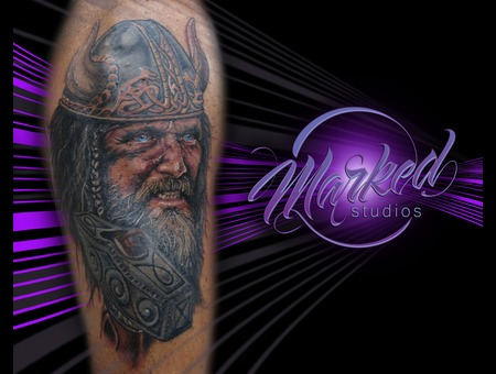 Reno  Tattoo  Marked  Portrait  Tattoos Color Shoulder