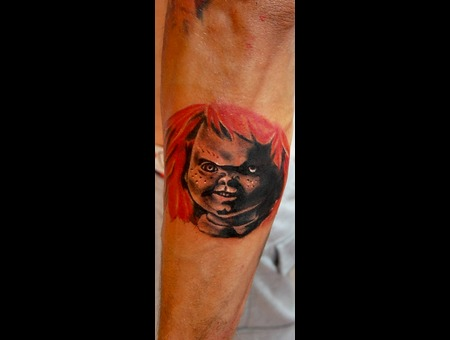 Chucky  Terror  Filme  Tattoo Color Arm