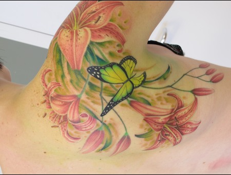 Flower Tattoo Done By Maaika  Growink Color