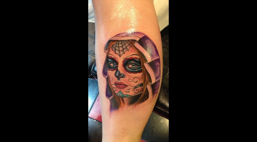 Day Of The Dead Girl  Day Of The Dead  Dia De Los Muertos  Color Lower Leg