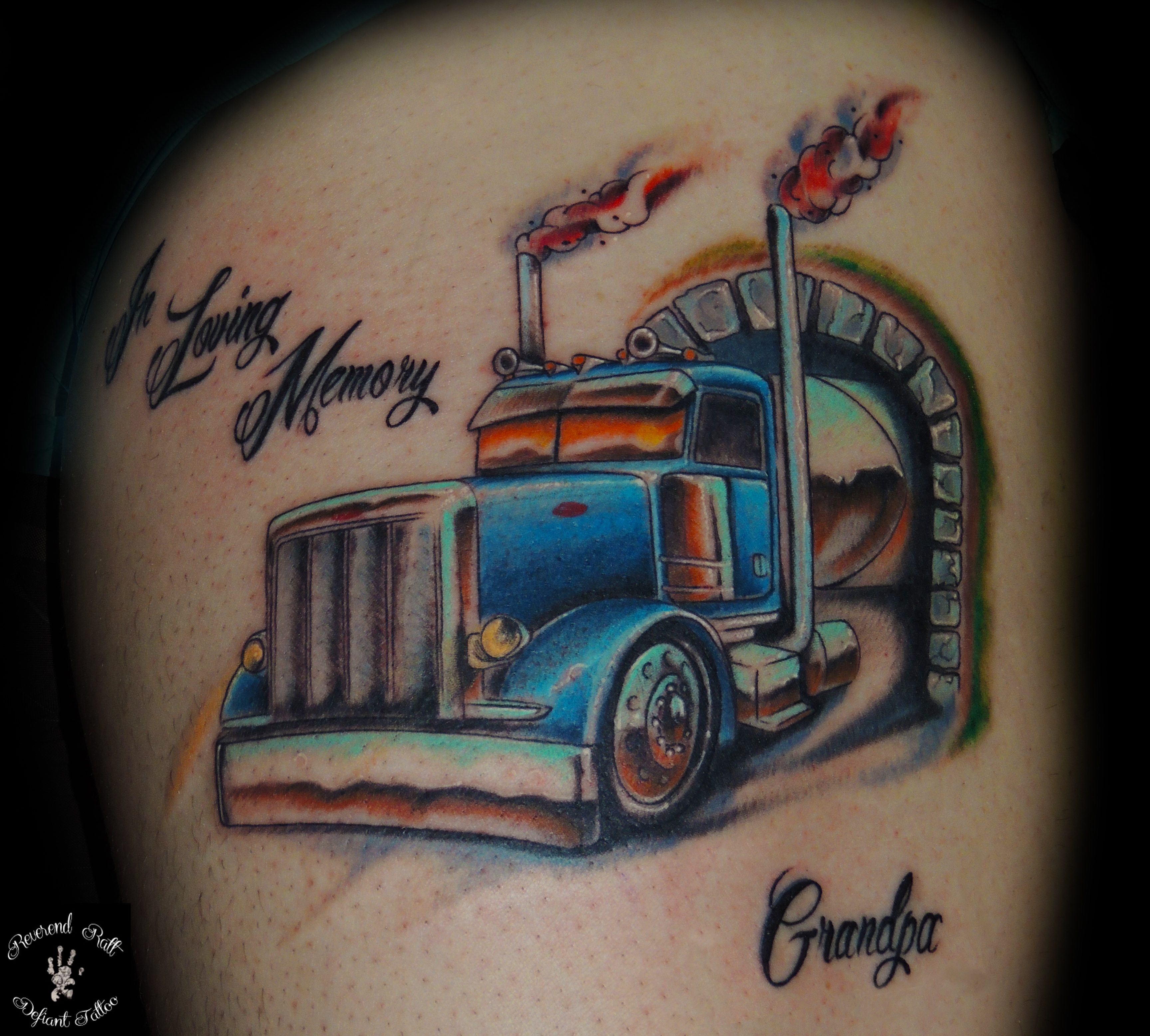 tattoos big trucks pictures to pin on pinterest tattooskid. Black Bedroom Furniture Sets. Home Design Ideas