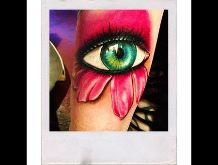 Eye  Kid  Flower  Eyeball  Child Tattoo  Color Arm