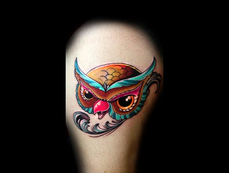 Owl  Filigree  Color Thigh