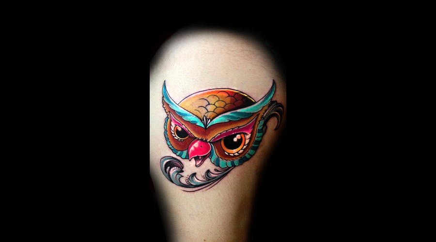Owl  Filigree  Color Thigh