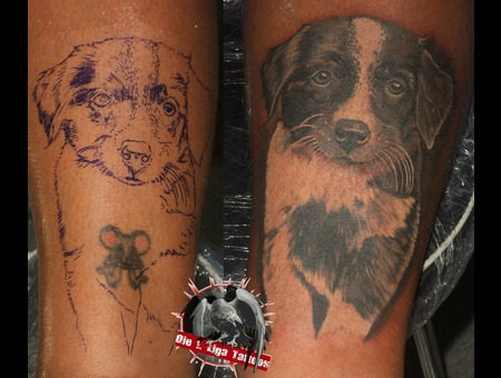 Cover Up Black Grey Lower Leg