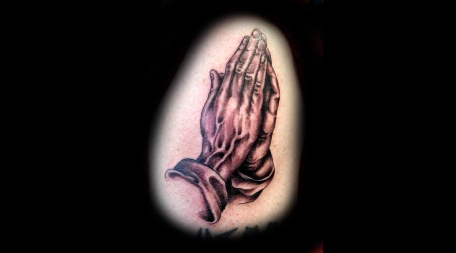Praying Hands Black White