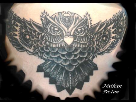 Owl.Eyes Black White