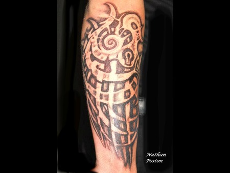 Negative Tribal  Freehand Black White