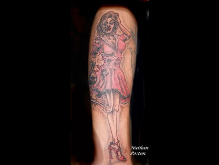Pin Up  Half Dead   Freehand Color