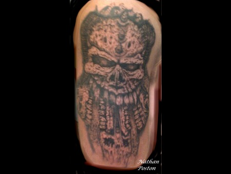 Skull Evil Dark  Freehand Black White