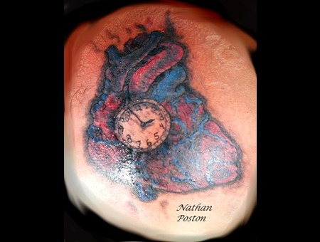 Heart Clock  Freehand Color