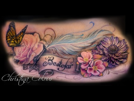 Butterfly Rose Feather Color