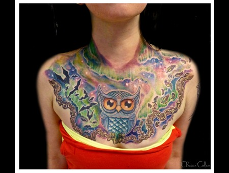 Owl Northern Light Chestpiece Color Chest