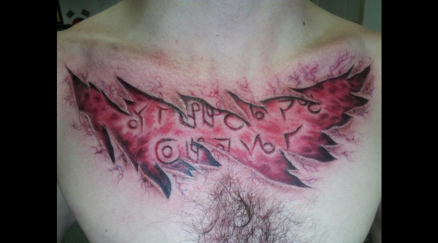 Blood  Skin Tear  Zombie  Realism Color Chest