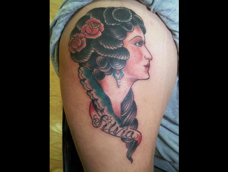 Traditional  Gypsy  Pinup   Color Arm