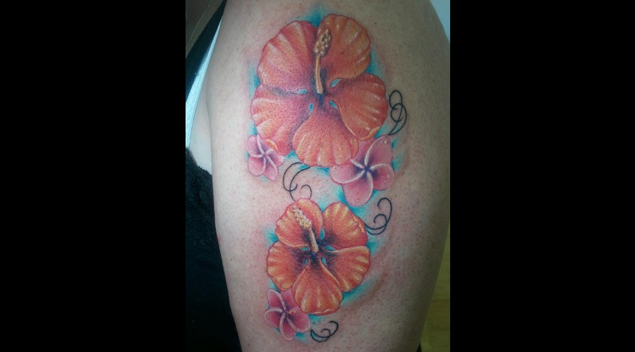 Flower  Realistic  Bright  Color Arm
