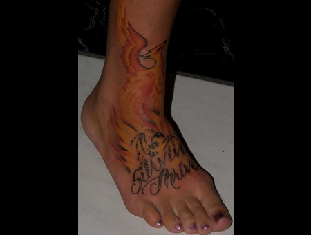 Phoenix  Fire  Lettering  Color Foot