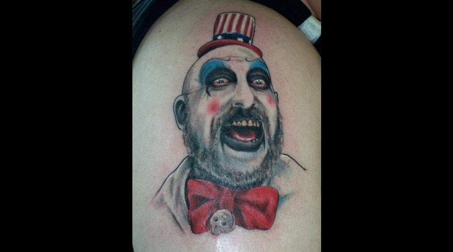 Capt. Spaulding  Devils Rejects  Portrait  Realism  Clown  Monster  Color Arm