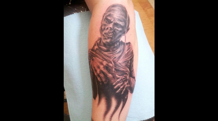 Mummy  Realism  Monster  Black And Grey  Black White Forearm