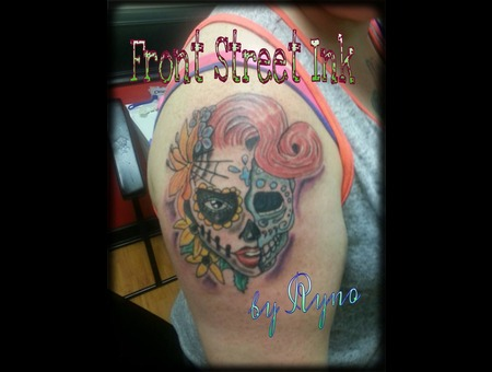 Day Of The Dead  Zombie  Sugar Skull Color