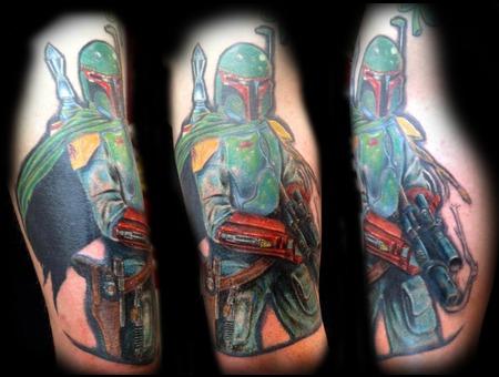 Boba Fett  Star Wrs  Bounty Hunter  Empire Color Shoulder