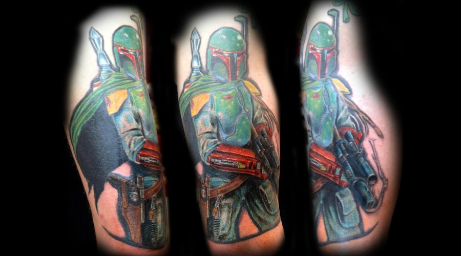 Boba Fett  Star Wrs  Bounty Hunter  Empire Color Shoulder