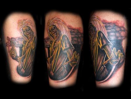 Iron Maiden  Eddy  Music  Heavy Metal   Rock Black Grey Lower Leg