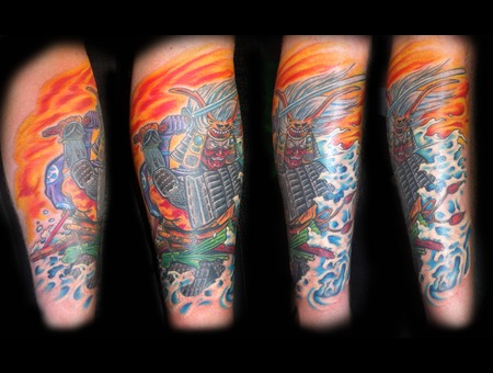 Samurai  Japanese  Katana  Oriental Color Lower Leg