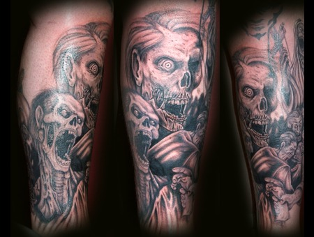 Zombie  Undead  Walking Dead  Death Black Grey Lower Leg