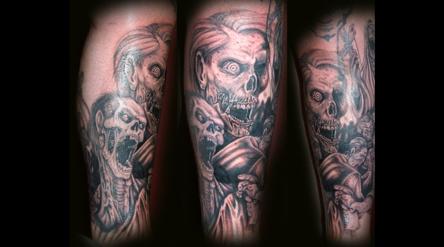 Zombie  Undead  Walking Dead  Death Black Grey Lower Leg