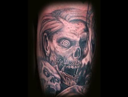 Zombie  Undead  Walking Dead Black Grey Lower Leg