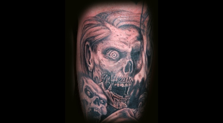 Zombie  Undead  Walking Dead Black Grey Lower Leg