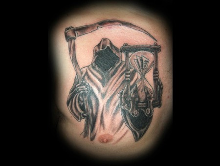 Reaper  Grim Reaper Time  Death  Money Black Grey Chest