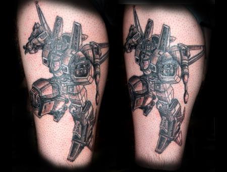 Starscream  Transformers  Autobots  Decipticons Black Grey Lower Leg