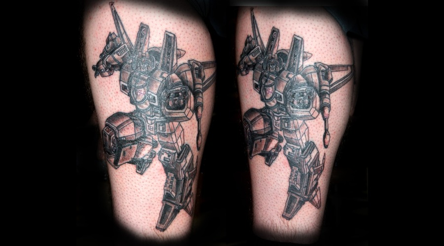 Starscream  Transformers  Autobots  Decipticons Black Grey Lower Leg