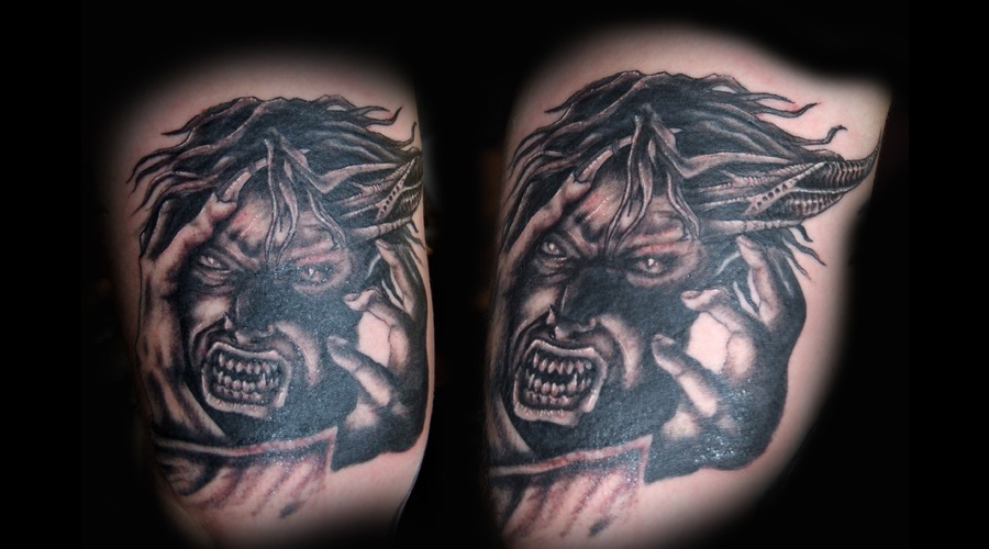 Demon  Devil  Evil Black Grey Arm