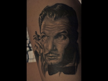 Vincent Price  Balck And Grey  Portriat Black White