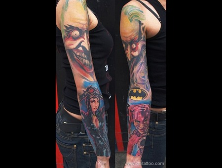 Batman  Sleeve   Black White
