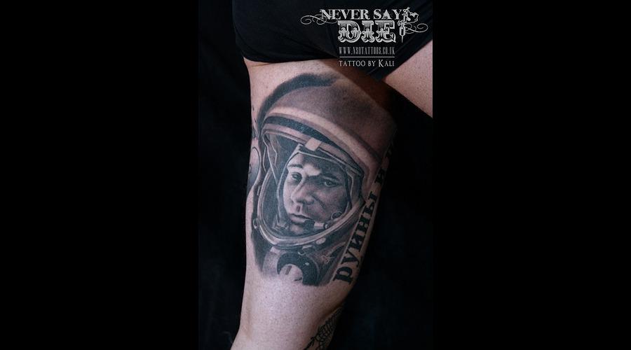 Realistic  Gagarin   Black White