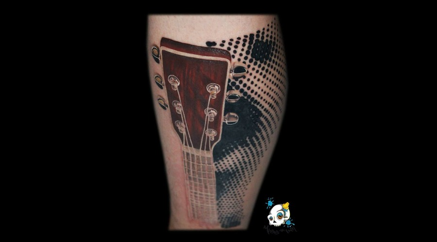 Guitar  Halftones Color Lower Leg