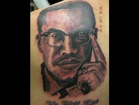 Portrait Tattoo  Back Black Grey Back