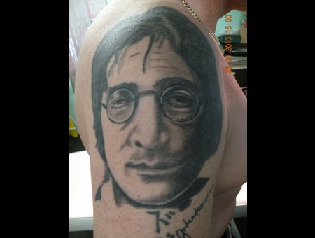 Portrait Tattoo  Shoulder Black White