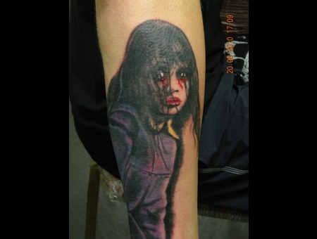 Realistic Tattoo  Forearm Color