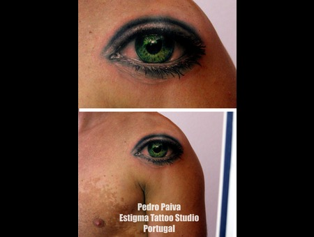 Eye Tattoo Color Pedro Paiva Estigma Portugal Color Shoulder