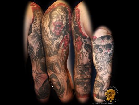 Zombie  Tattoo  Arm  Healed Arm