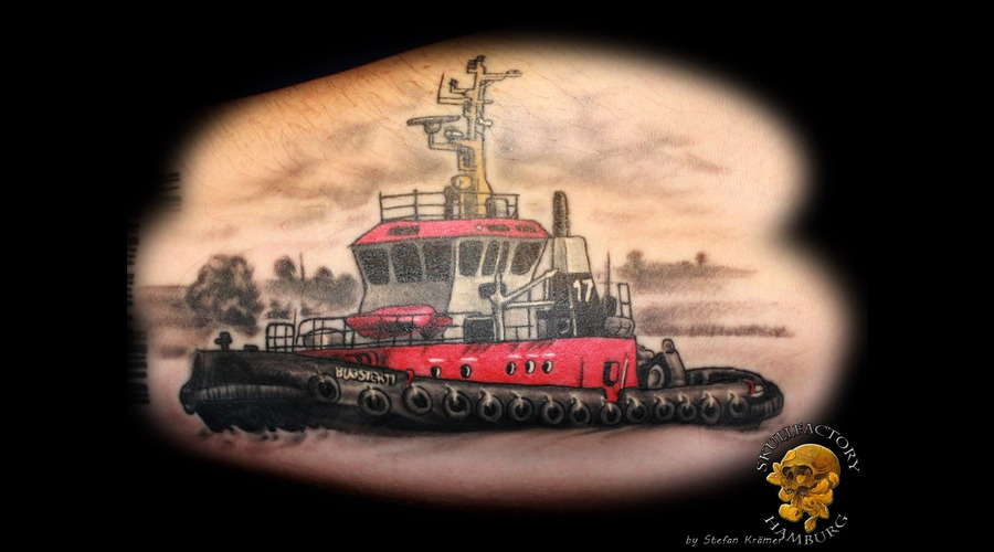 Ship  Bugsier  Healed Forearm