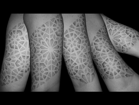 Dotwork  Tattoo  Black White