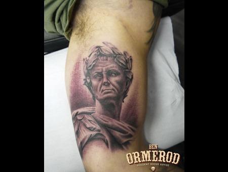 Julius Caesar  Statue  Realism  Inner Bicep Black White