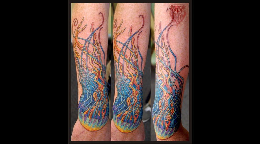 Jellyfish Hand Bright Color Arm