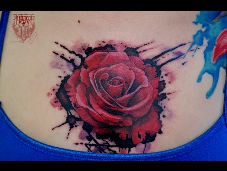 Rose Decay Splatter Chest Realistic Color Chest